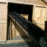 Bulk Coal Delivery into Outside Storage Shed